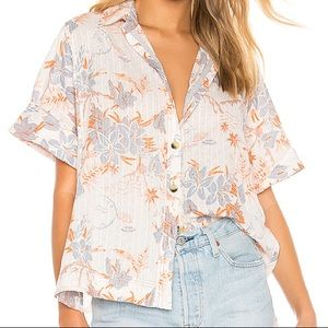Free People Floral Button-Up